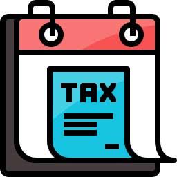 Taxes Due Icon for Calendar